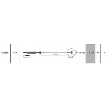 Sonda di temperatura PT100 PT56L