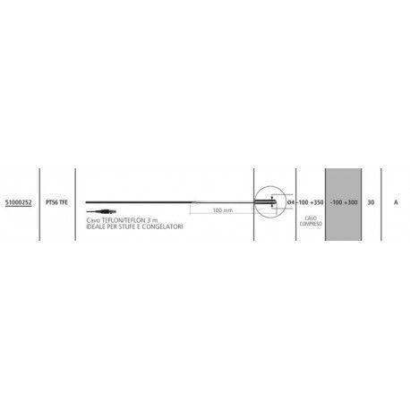 Sonda di temperatura PT100 PT56 TFE