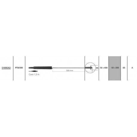 Sonda di temperatura PT100 PT56/500