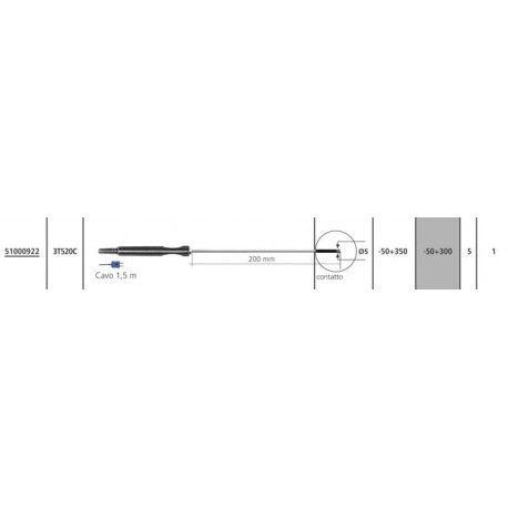 Sensore Termocoppia T 3T520C per Temp 7 K/T