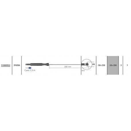 Sensore Termocoppia T 3T420A per Temp 7 K/T