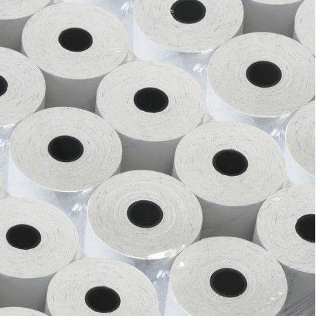 30 rotoli di carta termica da 80m, larghezza 80mm. Foro 12mm. Diametro esterno 77mm.