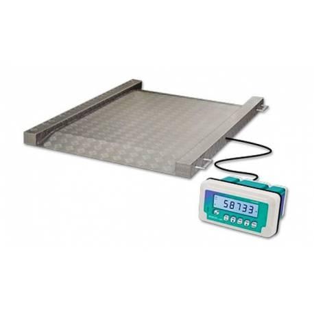 Bilancia da pavimento ultraleggera con rampe integrate ISPM