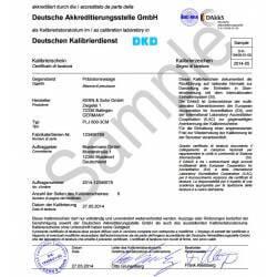 Certificato di taratura DAKKS / Accredia per bilance