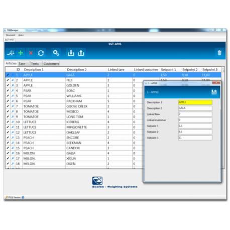 Programma per gestione database PC / BILANCIA