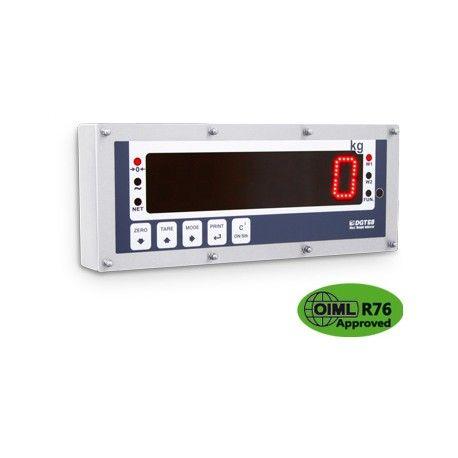 Ripetitore di peso con display LED da 60mm. Contenitore in acciaio INOX IP68, tastiera 5 tasti