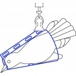Cono per pesata per uccelli per dinamometri (50 - 500 g)