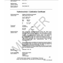 Certificato di Taratura ISO per spessimetri sonda F o N