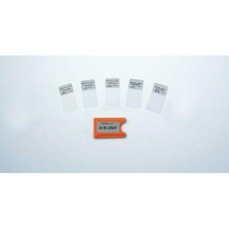 ATB-US07 Pellicole di calibrazione per Spessimetro digitale di rivestimenti SAUTER TB.