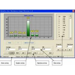 ATU-04 Software di trasmissione dati, cavo di interfaccia per Spessimetri