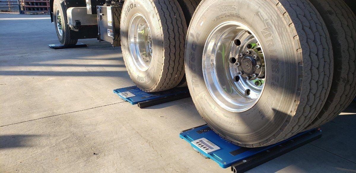 pesa ruote per automezzo a 3 assi