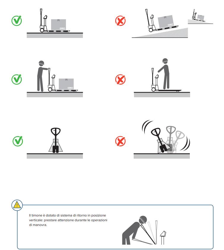 Come si usa il transpallet