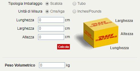 calcolo peso volume